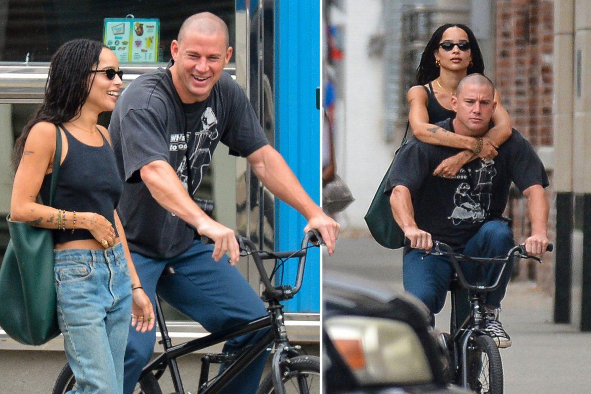 зои кравиц и татум вместе на велосипеде