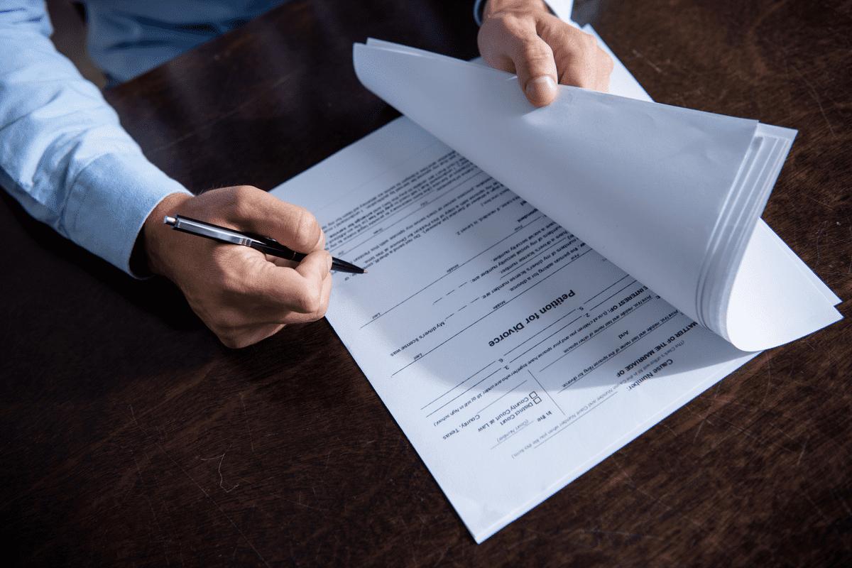 Заполнение документов на развод